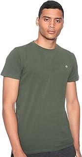 34 by Amr Diab Cotton Crew-Neck Chest-Logo Short-Sleeve T-shirt for Men