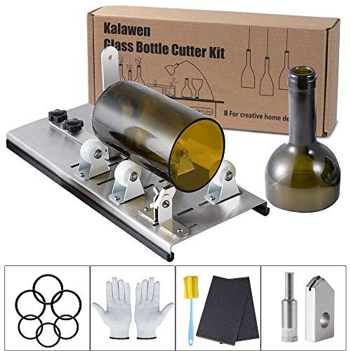 Kalawen Adjustable Glass Bottle Cutter Kit DIY Tool,...