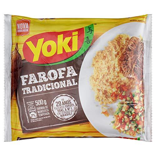 Yoki - Seasoned Cassava Flour - 17.6 Oz - Farofa De Mandioca Pronta Temperada