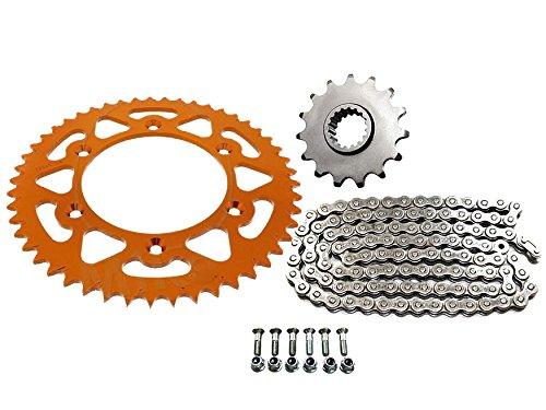 Kettensatz kompatibel mit/passend für KTM SX SX-F SXF EXC EXC-F EXC-R SXF EXCF orange