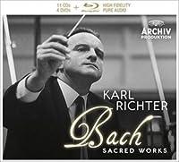 マタイ受難曲(1958)、ヨハネ受難曲、ロ短調ミサ(1961)、クリスマス・オラトリオ、他 カール・リヒター&ミュンヘン・バッハ管(11CD+ブルーレイ・オー