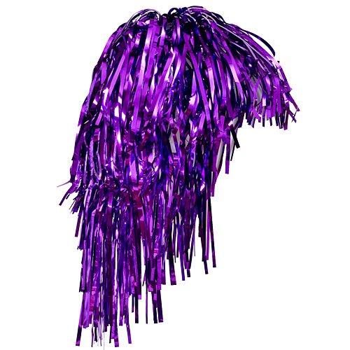 Shindigz Adult Size Metallic Purple Foil Tinsel Wig (1)