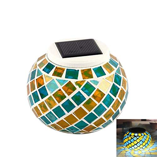 Wasserdichte Solarbetriebene Mosaik Solarleuchten, Farbwechsel Solar Tischleuchten, LED Magic Sunshine Ball Farbe ändernde Lovely Night Lights Party Lights Crystal Glass Globe Ball