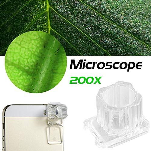 200 x teléfono móvil Microscopio portátil con lupa de poro para identificar Jade Observación de la piel