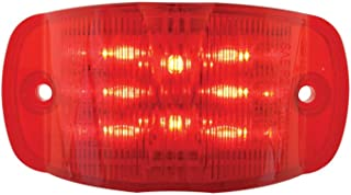 Grand General 76252 Red Rectangular Camel Back Wide Angle 14-LED Marker and Clearance Sealed Light