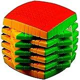Speed Magic Puzzle Cube/Forma Regalo Tambor Cubo de la Velocidad 11x11 Cubo Rompecabezas Caja de Juguetes de cumpleaños for niños de Estudiantes for el Adulto Competencia Profesional Pan Suave con ca
