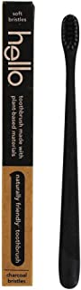 Hello BPA Free Charcoal Bristle Toothbrush - Soft - 1ct Black