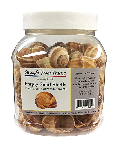 Straight from France Escargot Snail Shells Large 48 Count