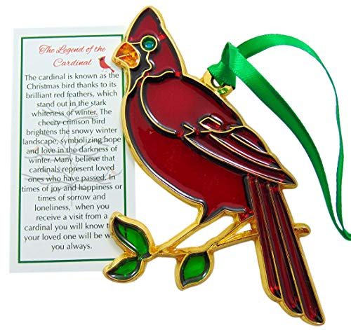Westmon Works Cardinal Christmas Ornament with Legend Card Holiday Decoration, 5 Inch