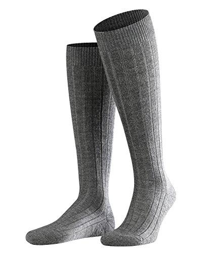 FALKE Herren Kniestrümpfe Teppich im Schuh - Merinowollmischung, 1 Paar, Grau (Dark Grey 3070), Größe: 41-42