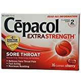 Cepacol Maximum Strength Throat Drop Lozenges, Cherry, 16 Count (Pack of 2)