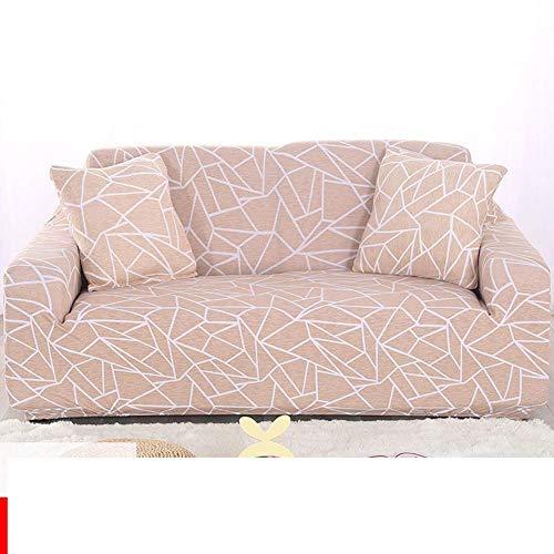 NSYNSY Toalla de sofá elástica de Cubierta Completa, hogar nórdico para niños, Protector de sofá para Mascotas, Funda de sofá de Tela, Funda de sofá, Tela de poliéster y Spandex, cojín de sofá-R, 4