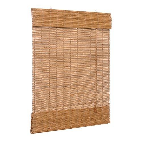 Ventanara Raffrollo Bambus Bambusraffrollo Rollo inkl Montaematerial (braun, 60 x 160 cm)