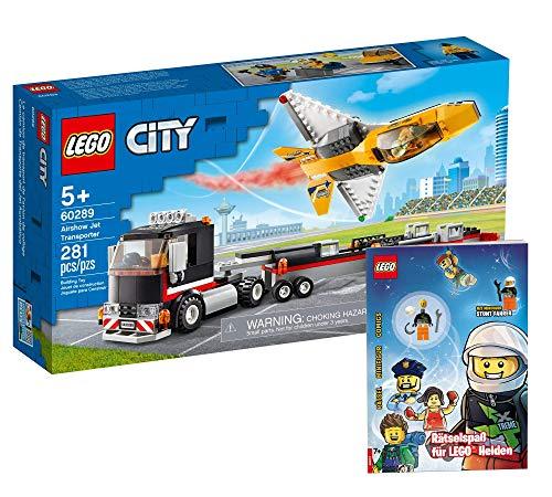 Collectix Lego 60289 - Juego de transporte para show de aviones y accesorios para Lego Helden (cubierta blanda)