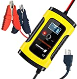 Newport Vessels 12V Smart Battery Charger with Pulse Repair Technology, Yellow