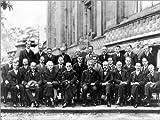 Poster 90 x 70 cm: Fünfte Solvay-Konferenz, 1927 von