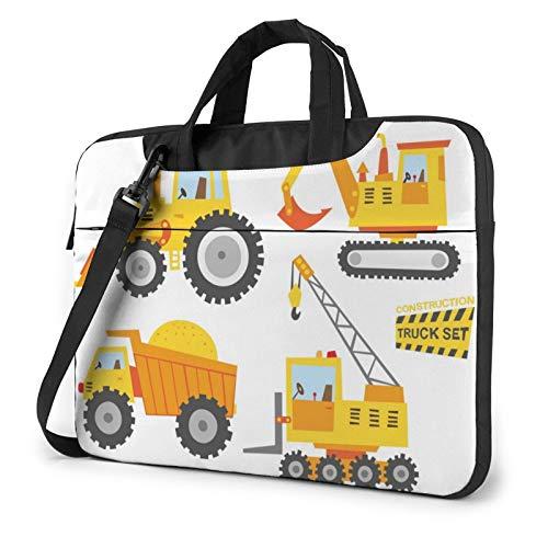 Cute Construction Truck Laptop Shoulder Messenger Bag,Laptop Shoulder Bag Carrying Case with Handle Laptop Case Laptop Briefcase 13 Inch Fits 13 inch Netbook/Laptop