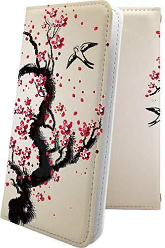 ケース ZenFone3 Deluxe ZS550KL 互換 手帳型 花柄 花 フラワー サクラ 桜 小桜 夜桜 ゼンフォン デラックス 和柄 和風 日本 japan 和 zenfone 3 zs 550 kl おしゃれ [FKp56269V6T]