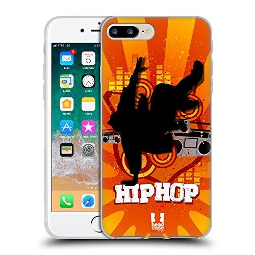 Head Case Designs Hip Hop Just Dance Cover in Morbido Gel e Sfondo di Design Abbinato Compatibile con Apple iPhone 7 Plus/iPhone 8 Plus