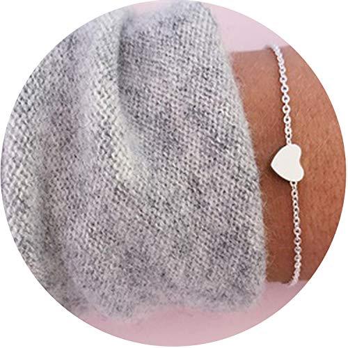 HANBINGPO Bohemian Handmade Weave Heart Long Tassel Bracelet Sets Women 2019 New Grey Rope Chain Bracelets Jewelry, S087-2