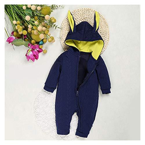 GuanRen Lindo Oreja con Capucha Manto Abrigo Baby Baby chamamistas para niños Ropa de niñas recién Nacido más Grueso vellón vellece Ropa Chaqueta Infantil (Color : Azul, Size : 6M)