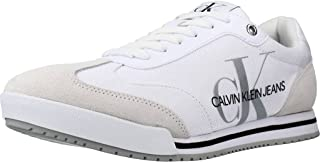Calvin Klein Herren Sportschuhe Low Profile Sneaker LACE Weiß 40 EU