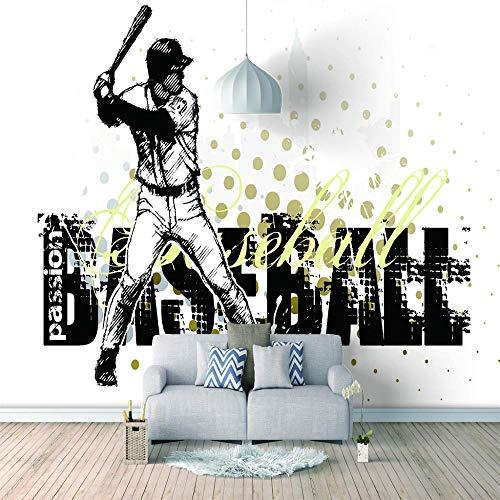 3D Tapete Wandbild Baseball fototapete Wohnzimmer TV Hintergrund Schlafzimmer Decke Zimmer Home Wanddeko Benutzerdefiniertes Größe-140X100cm (55x39inch)