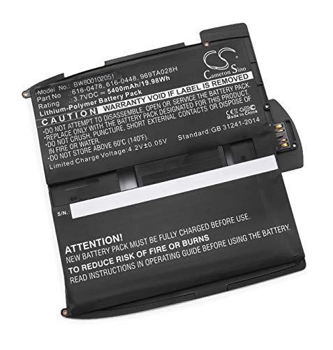 vhbw Li-Polymer Akku 5400mAh (3.75V) für Tablet Pad Apple IPad 1G, A1219, A1315, A1337 wie 616-0478, 616-0448, 969TA028H.