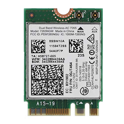 Fdit Wireless Intel Dual WiFi Netzwerkkarte Wireless Netzwerkkarte AC-7265 867Mbps Bluetooth 4.0 Mini-PCI E Unterstützung Win7 / Win8 / Win10