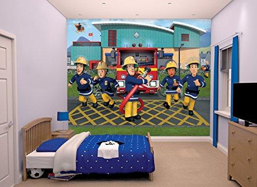 Walltastic Sam, der Feuerwehrmann, Tapete, Wandbild, Papier, Multi, 8 x 10 ft