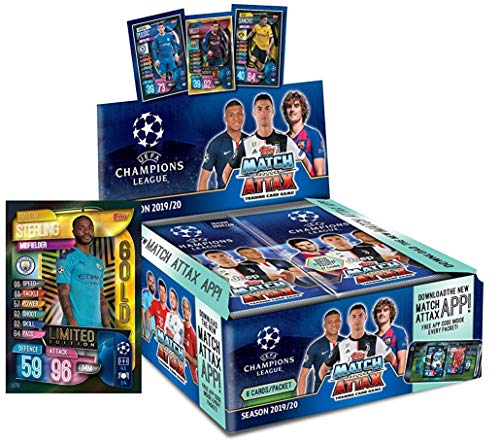 2019/20 Topps Match Attax Soccer Trading Card Game - UEFA Champions League - Retail Box of 30 Sealed Packs / 6 Cards Each Pack (180 Cards Total)