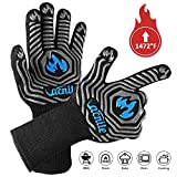 VACNITE BBQ Gloves, 1472℉ Heat Resistant Grill Gloves, 14 Inch Non-Slip Barbecue Glove for Smoker,...