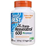 Doctor's Best Trans-Resveratrol 600, 600Mg - 60 Vcaps 60 Unidades 60 g
