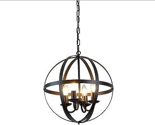 Lámpara de araña americana de hierro forjado vintage sala de estar restaurante bar iluminación decorativa luz de techo