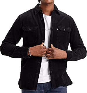Levi's de los Hombres Jackson Worker Shirt, Negro, S