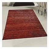 Tapis Style Berbère 120x170 cm Rectangulaire AF CHILA Rouge Salon adapté au Chauffage par Le Sol