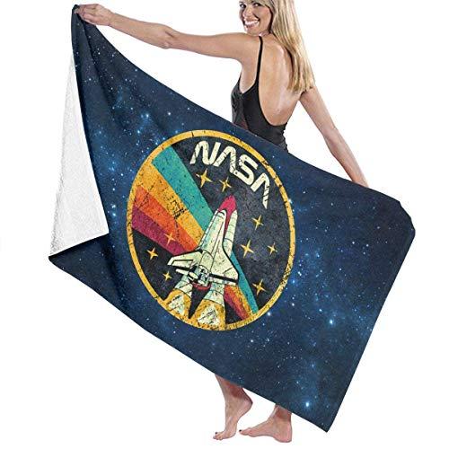 jhgfd7523 Toalla de baño – Agencia Espacial de Estados Unidos Vintage NASA Toallas de playa ligeras grandes