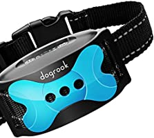 DogRook Rechargeable Dog Bark Collar - Humane, No Shock Barking Collar - w/2 Vibration & Beep - S, M, L Dogs Breeds...