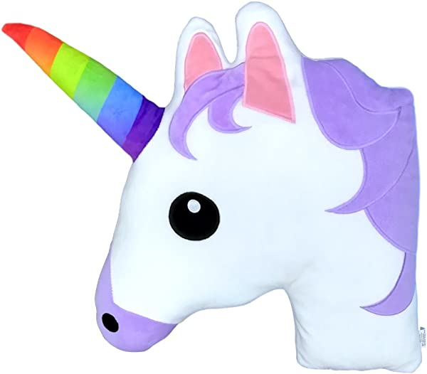 Monqiqi Unicorn Throw Pillow 14 Emoji Plush Pillow For Couch Home Decorations And Birthday Party Supplies Favors Unicorn Shape