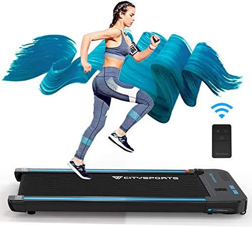 CITYSPORTS Laufband mit 440 W Elektromotor integrierte Bluetooth-Lautsprecher Einstellbares Tempo LCD-Display für zuhause und Büro… (SCHWARZ)