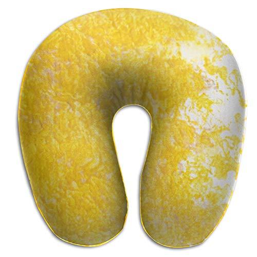 DuanYuanZhi marco oro borde decorativo en forma de U almohada de cuello ergonómico portátil viaje avión tren almohada relleno cabeza cojín cervical cuello almohada