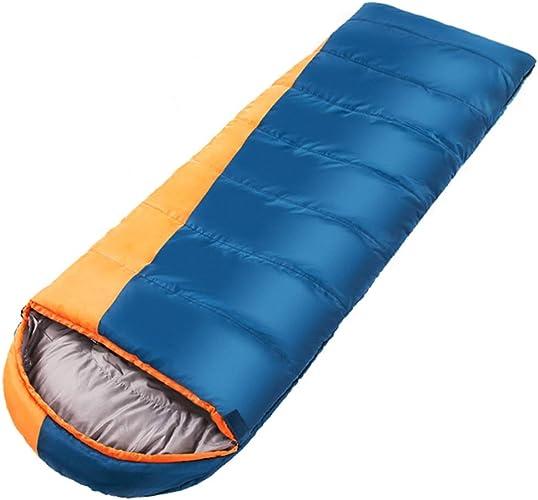 MXueei - Sac de couchage Adulte en Plein air Hiver Coutures épaisses Camping Chaud (Couleur   bleu)