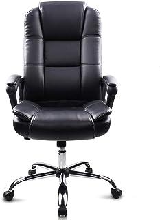 Sillas de Escritorio de Oficina Silla de oficina ejecutiva de respaldo alto de cuero de imitación Seat de la computadora de escritorio silla ergonómica diseño de los asientos de altura ajustable de 36