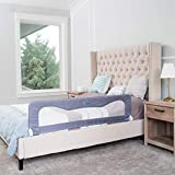 Toddler Bed Rail Guard for Kids– Bed Safety Rail Guard for,Toddlers,Infants –Bed Rails for Toddlers for Queen & King Bed,Twin Bed,Twin Mattress,Twins Bed,Queen King Mattress-Grey(35.5L19.5H in)