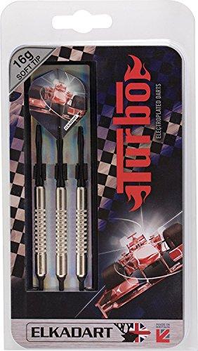 Best Sporting Elkdart Dartpfeile Turbo, 3 Soft-Tip-Pfeile mit Etui, Gewicht: 14 g