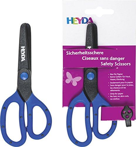 Heyda 2048081 Sicherheitsschere 13 cm Klinge aus Kunststoff (ohne Metall)