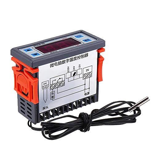 XH-W2060 Embedded Temperatura del termostato Digital gabinete del congelador de Almacenamiento en frío del termostato del Mando de Control de Temperatura Gaodpz (Size : DC12V)