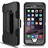 MBLAI Defender Series Case for iPhone 5S, iPhone SE Case, 4 in 1 Hybrid [Heavy Duty] Triple Protection Design Case with [360 Rotating Belt Clip Holster] for Apple iPhone SE/ 5S/ 5 (Black)