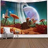 Tapiz de Setas Setas Fluorescentes inusuales Dreamy Fantasy Decoración para Colgar en la Pared para el Dormitorio Sala de Estar Dormitorio (150x130cm)
