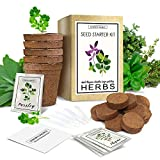 Indoor Herb Garden Starter Kit - Organic, Non GMO - Seed Packets,...